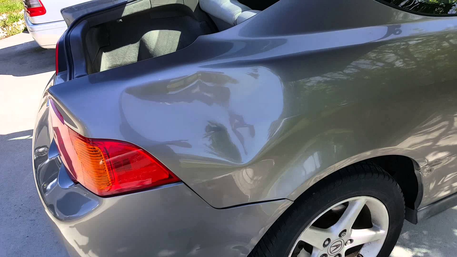 Vallejo-napa big dent paintless dent repair…before
